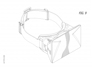The design of the Oculus Rift, as depicted in patent USD738374S1 (https://patents.google.com/patent/USD738374S1/en)